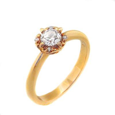 【JHT 金宏總珠寶/GIA鑽石專賣】0.30ctGIA天然鑽石戒指/D-VVS1/材質:18K(B3368)