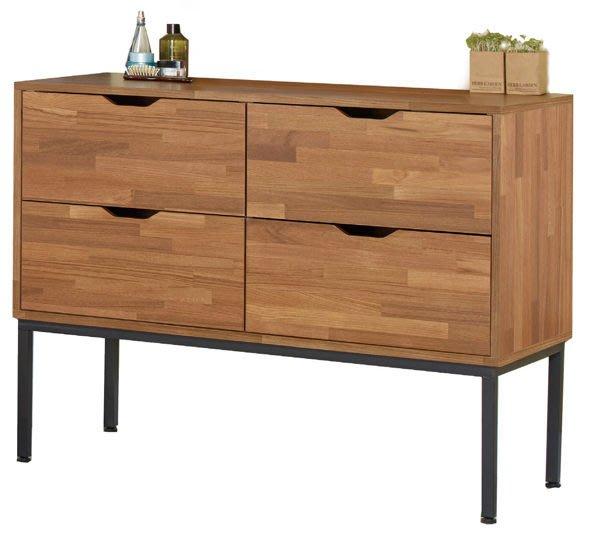【DH】商品貨號N520-4《亞軒》3.5尺柚木集層四斗櫃(圖一)工業風時尚優質經典。主要地區免運費