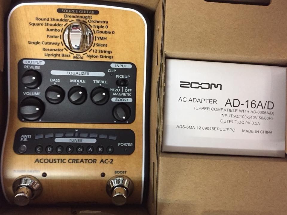 傑禾樂器 ~ Zoom AC-2 木吉他效果器 自然飽滿的吉他頻率