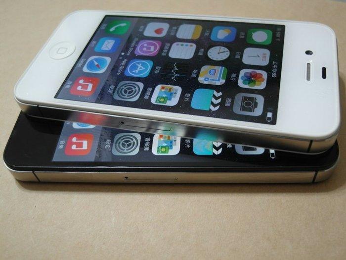 ☆1到6手機☆ 盒裝 iPhone 4S 32G 亞太4G可用《全新旅充+玻璃貼》功能正常 宅配免運Q27