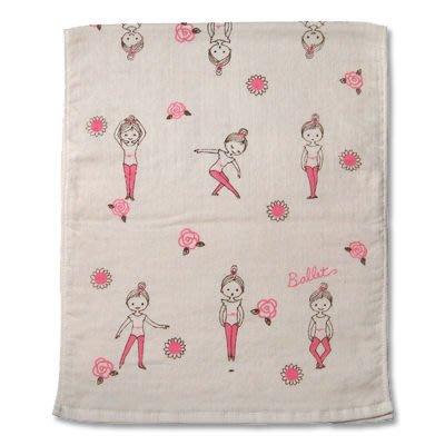 芭蕾小棧生日畢業表演禮物日本進口Shinzi Katoh加藤真治手帕紗布巾方巾毛巾大桃紅練習服