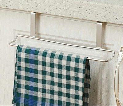 【恬昕小舖】现货 正304不锈钢门柜挂式毛巾架擦手巾架
