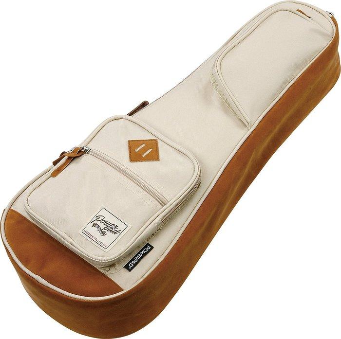 《小山烏克麗麗》Ibanez POWERPAD 原廠 23吋 烏克麗麗袋 琴袋 15mm厚 單背帶 米白 IUBC541