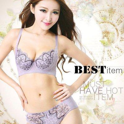 【免免線購】台灣製~~浪漫夢境。精緻刺繡B罩內衣 (整套組)