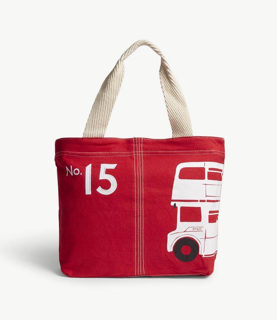 英國 ALICE TAIT London bus Portland tote 倫敦巴士手提/購物包(預購)