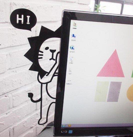 【東京數位】全新 韓國 可愛獅子 奶油獅 波堤獅 圓仔 整理記憶好幫手/壓克力電腦螢幕側邊便利貼留言板 便條紙板