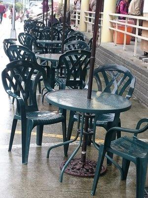 台製~綠色格網高背塑膠椅 10 張 /...