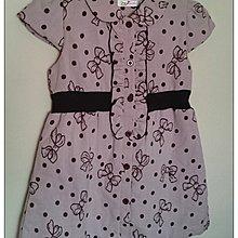 ~雍容華貴~birch jades紫色水玉點點蝴蝶結大衣式洋裝 連身裙 SIZE:11