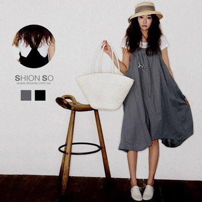 享瘦衣身中大尺碼‧韓風熱賣款‧【B1131】鄰家女孩大口袋娃娃款洋裝