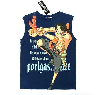 《琉璃的雜貨小舖》日本西松屋 航海王 火拳艾斯純棉背心T恤 現貨