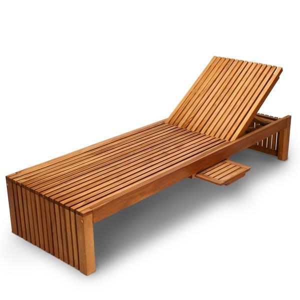 Brother印尼原木柚木躺椅~泳池畔~拉露二節式柚木躺椅~泳池必備~南洋休閑風情~~兄弟牌設計師最愛!!