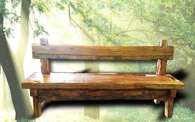 【益慶大熊傢俱】200-62-86  風化老柚木 休閒椅 餐椅 原木椅子 原木風 柚木椅 原木傢俱 實木長椅