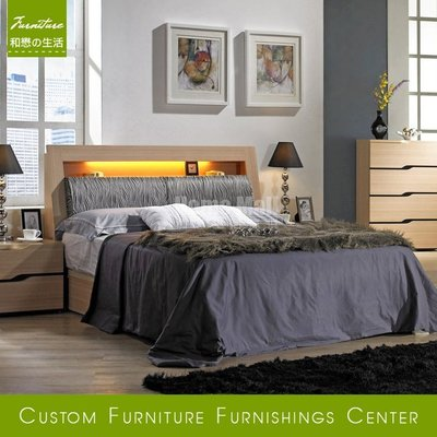 HOME MALL~威爾斯雙人加大6尺床箱式床架 $10800 (雙北市免運)8C~ (歡迎來電詢問)