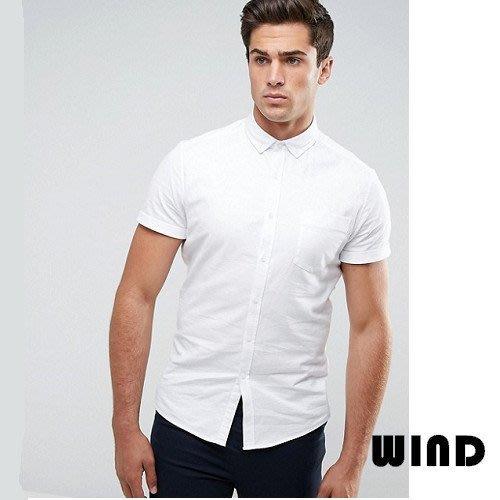 【 Wind 】英國ASOS直送 英倫 重磅 設計款 白色  牛津 短袖 襯衫 合身  簡約 雅痞 窄版 現貨 27