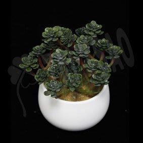 【人造盆栽】~6吋景天盆(綠色)~園藝綠化造景 空間佈置 花藝設計 仿真觀賞道具 多肉植物 生活裝飾