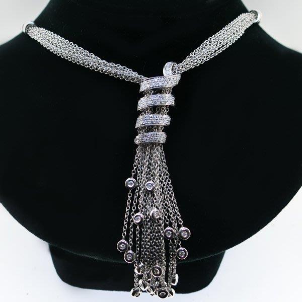 【JHT金宏總珠寶/GIA鑽石專賣】天然鑽石項鍊-D:1.48ct/18K(JB34-A09)