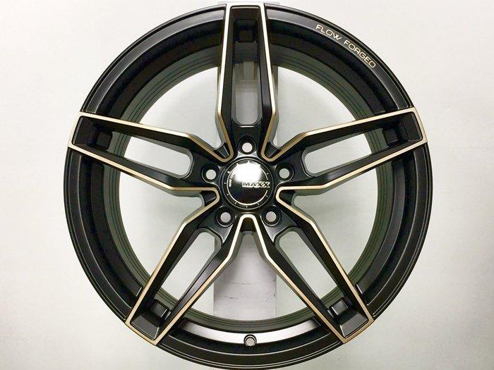 ╭☆輪鋪☆╯全新 (MAXX M08) 18吋5孔112 BENZ/VW/AUDI 黑車古銅面 旋壓輕量化鋁圈