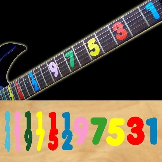 園之屋 現貨 日本 Inlay sticker 彩色 琴格 數字  指板貼紙 民謠吉他 電吉他