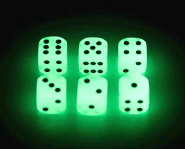 Luminous Dice 14mm Glowing Dice Drinking Games For Party Pub