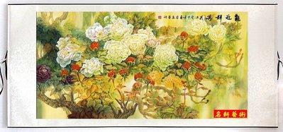 『名軒花鳥畫』山水畫 國畫字畫  風水畫  牡丹裝飾畫- 已裱卷軸可直接懸掛