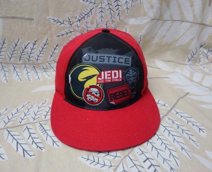 幼童 男童 棒球帽 平沿帽 遮陽帽 美國 Rebel Jedi Justice 紅色 51