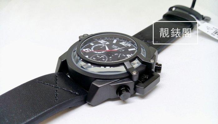 【靚錶閣】極酷個性立體鏡面/三環計時-日期腕錶