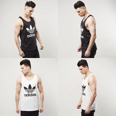 8f07d7696a01 Adidas Originals 復古大LOGO 基本款背心男女可穿BK7104 BK7098 保證全新正品