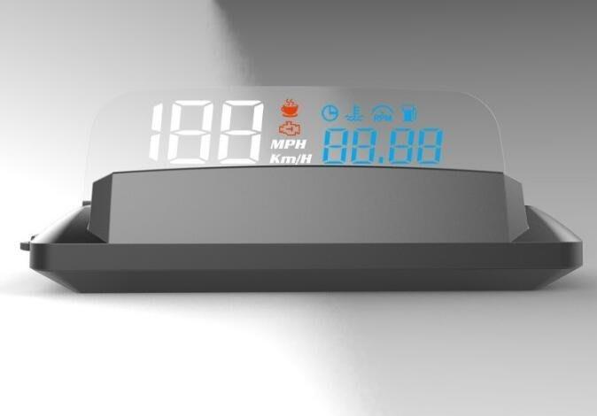 HUD擡頭顯示器 OBD2 汽車行車電腦 自帶反射板H400  4091