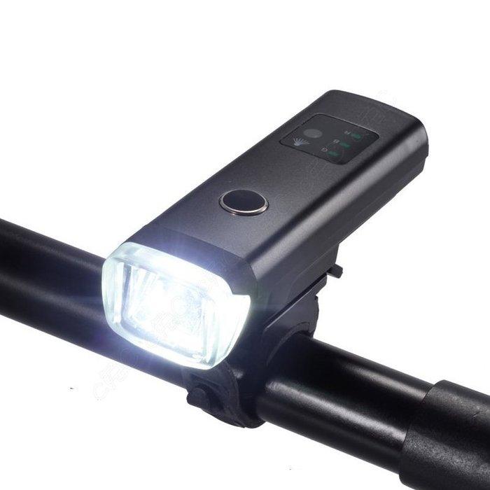 ~ 正品~ 自行車德規光偵測頭燈:超大電池強續航 USB充電單車前燈 輕量化防水腳踏車燈
