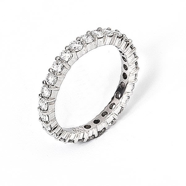 【JHT 金宏總珠寶/GIA鑽石專賣】0.85克拉天然鑽石線戒/材質:PT900/(JB40-A15)