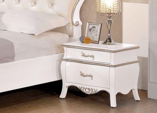 【DH】商品貨號G535-9商品名稱《薩琳》1.7尺法式古典造型白色床頭櫃(圖一)法式時尚/優質經典。主要地區免運費