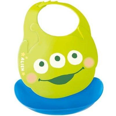 尼德斯Nydus 日本正版 迪士尼 嬰兒用品 寶寶圍兜 口袋圍兜 立體 防水 玩具總動員 三眼怪 日本製