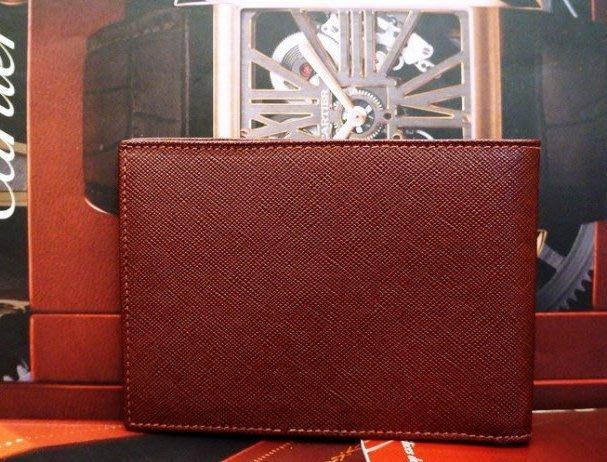 GUCCI專櫃真品GUCCI酒紅真皮壓紋雙鈔票夾層中性皮夾