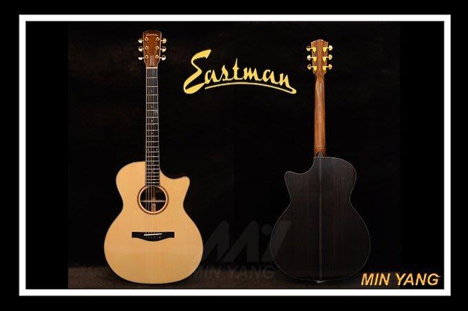 *民揚樂器*/ 民謠吉他 EASTMAN AC722C 全單 木吉他 附硬盒/GSP優良樂器商
