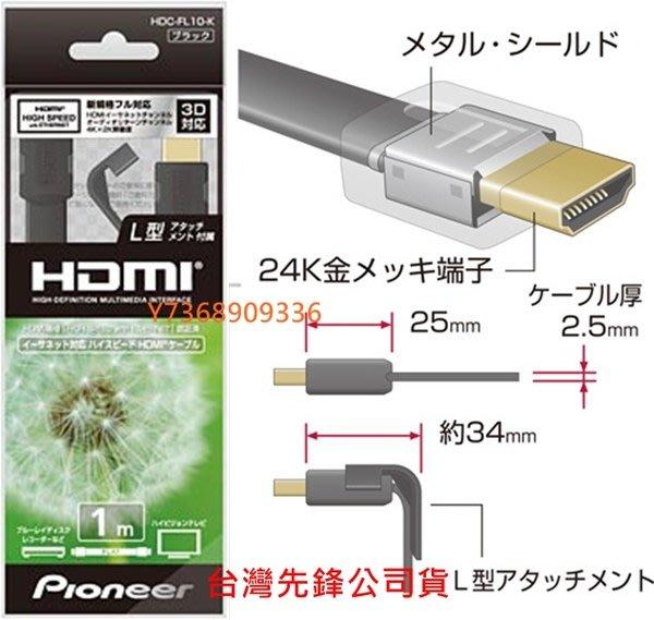 極致影音~Pioneer先鋒*3D規格【1.4版HDMI線-1.0 2.0米】支援4kx2