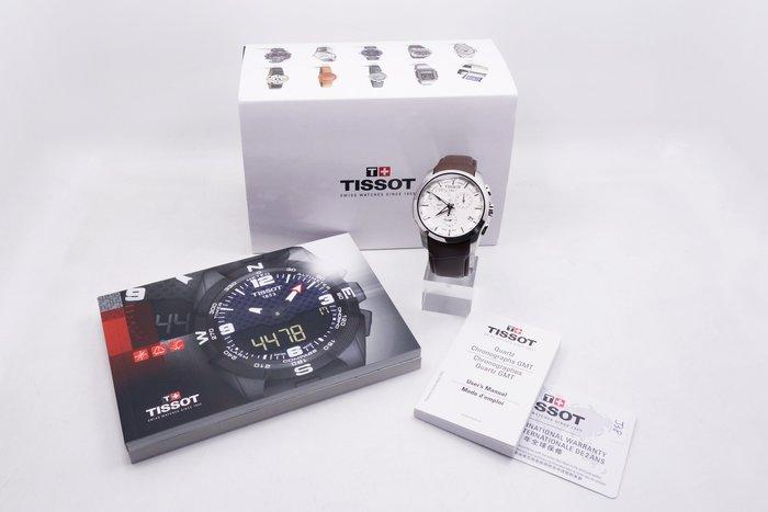 【台中青蘋果】天梭 Tissot Couturier建構師藍寶石雙時區計時錶 T0354391603100 #24228