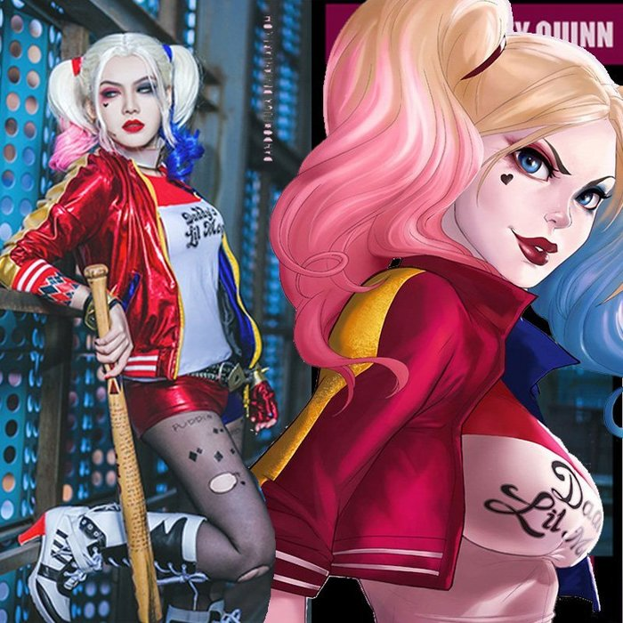 【Kathie Shop】萬聖節兒童角色扮演服自殺突擊隊suicide squad哈莉·奎茵小丑女cosplay化粧舞會