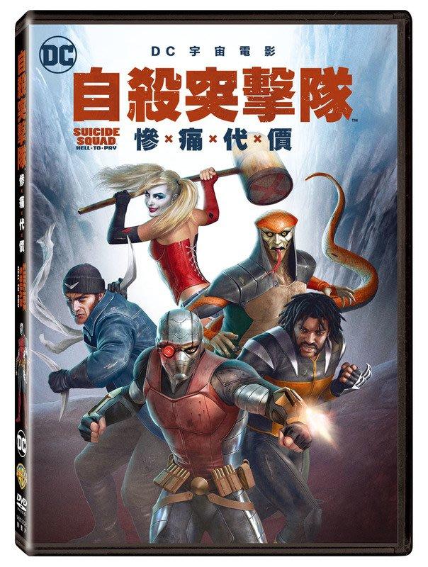 (全新未拆封)自殺突擊隊:慘痛代價 Suicide Squad DVD(得利公司貨)