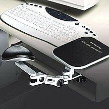 *   邁克電腦   *得力助手 鋁合金  銀手臂 可調三段式支撐架附鼠墊
