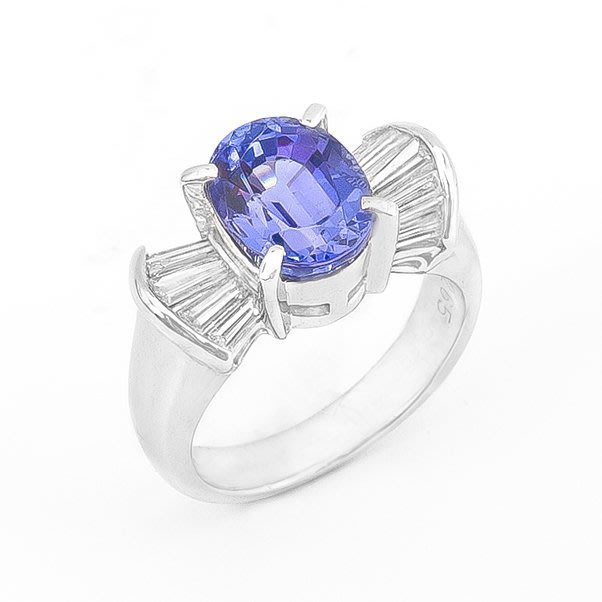 【JHT 金宏總珠寶/GIA鑽石專賣】2.65ct天然丹泉石鑽戒/材質:PT900(JB36-A19)