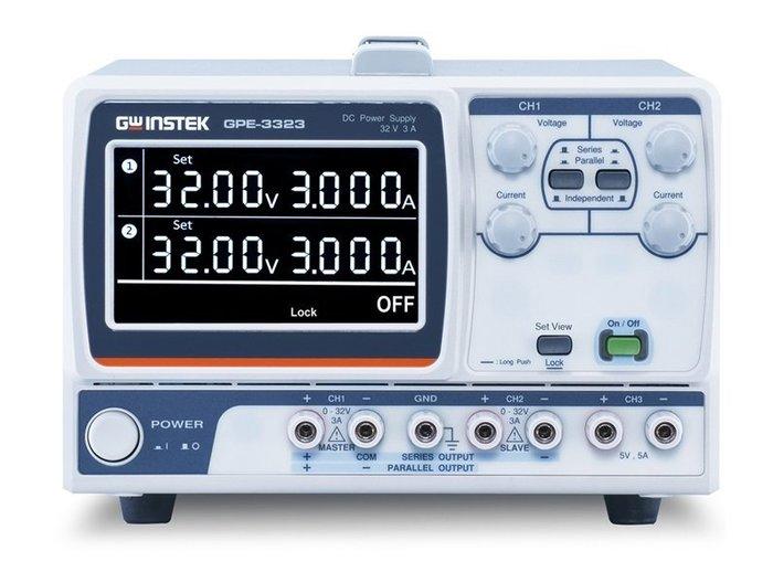TECPEL泰菱電子》固緯 GWInstek GPE-3323 多通道直流電源供應器 3CH  0-32V 0-3A