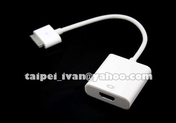 Apple 蘋果 iPad Dock to HDMI Adapter 訊號轉接線  iPh