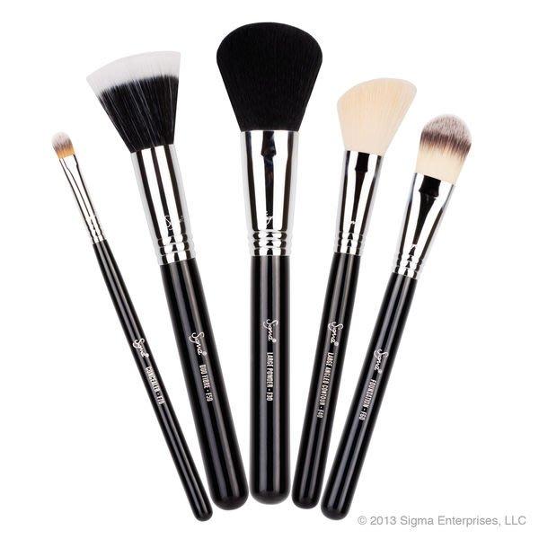 Sigma BASIC FACE KIT基礎臉部化妝刷具5件組【愛來客】☆美國Sigma官方授權經銷商☆