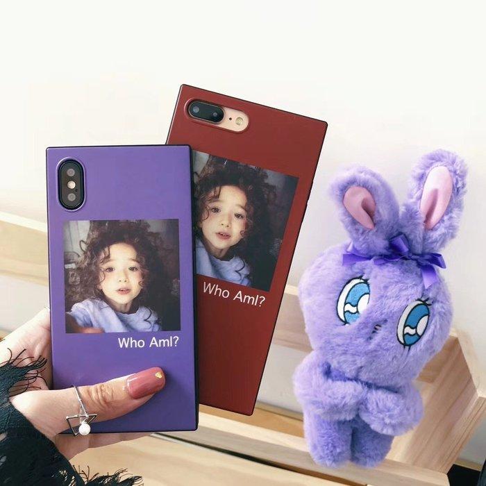 iPhone X  8 7 6S plus 手機殼 日韓潮牌 可愛女孩 少女風  簡約時尚 軟殼全包 防摔抗震 保護套