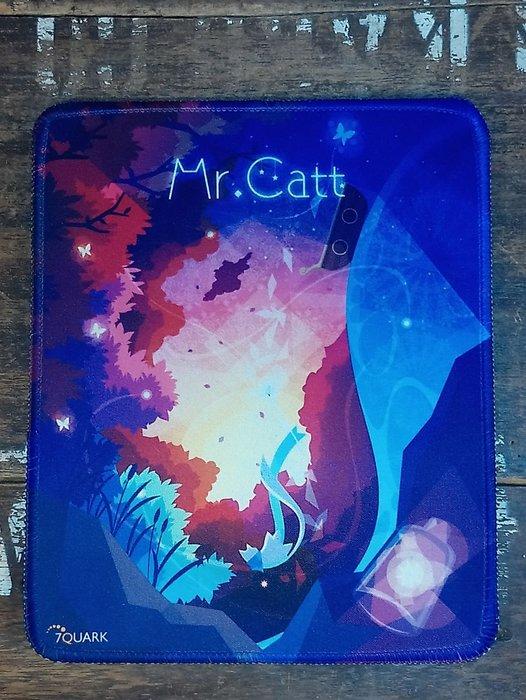"7QUARK 的Mr.Catt""喵星旅人~香蒲""滑鼠墊 小 :電玩 電腦 周邊 滑鼠墊 貓"