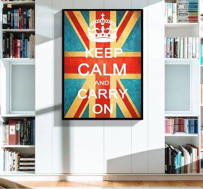 現代客廳臥室餐廳掛畫壁畫無框畫裝飾畫小清新字母英國國旗(兩款可選)