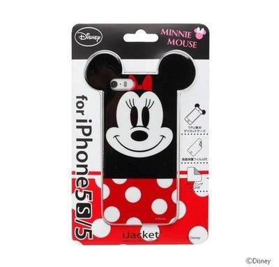 尼德斯Nydus~* 日本限定 正版 迪士尼 Disney 手機殼 保護殼 大頭 米妮 iPhone5 5S