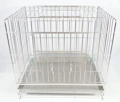 【優比寵物】2尺白鐵不鏽鋼(304#級)(雙門上掀)固定式《抽取式底網》不銹鋼貓籠/狗籠/兔籠/寵物籠/台灣製