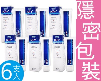 【DDBS】全新上市 組合促銷6支1組 ! 杜蕾斯 KY潤滑凝膠 潤滑劑 100G/條(KY潤滑液/岡本)