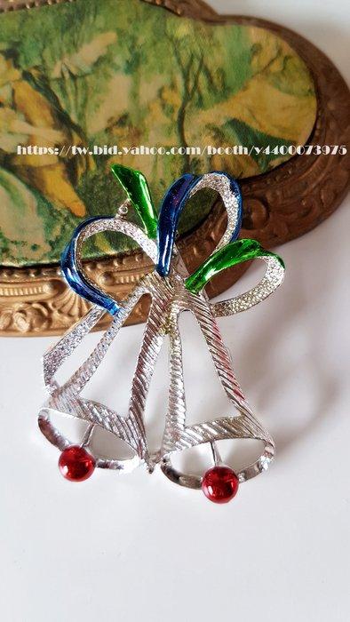 妍媽咪ㄉ西洋古董 ~ 美國 Gerry's聖誕鈴鐺 Brooch Pin ~Vintage 復古